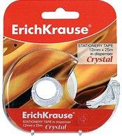 """Клейкая лента """"crystal"""" 12 мм х 25 м, в диспенсере, ErichKrause"""