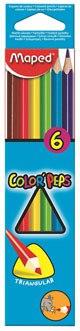 Цветные карандаши color peps, трехгранные, 6 цветов, Maped