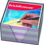Блок для записей, 9х9х5, в пластиковом корпусе, розовый, ErichKrause