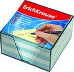 Блок для записей, 9х9х5, в пластиковом корпусе, голубой, ErichKrause
