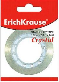 """Клейкая лента """"crystal"""" 18 мм х 33 м, ErichKrause"""