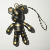"Брелок ""мишка black star"", CreativeStudio"