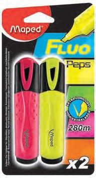 Маркер текстовыделитель fluo pep's, 2 штуки, желтый, розовый, Maped
