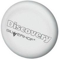 "Ластик из синтетического каучука ""discovery"", белый, с запечаткой, круглый, Silwerhof"