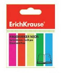 Флажки с клеевым краем, 5х12х50, неон, ErichKrause