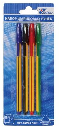 Набор цветных шариковых ручек, 4 штуки, EaSTar