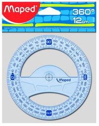 "Транспортир ""геометрик"", 360 градусов, 12 см, Maped"