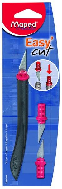 Нож-скальпель + 2 запасных лезвия, Maped