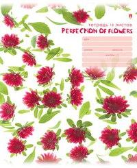 """Тетрадь школьная """"цветы. патерн"""", 18 листов, линейка, Альт"""