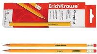 """Набор чернографитных карандашей """"grapho"""" с ластиком, 12 штук, ErichKrause"""