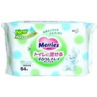 """Детские влажные салфетки """"merries flushable"""", запасной блок, Merries (Мериес, Мерис)"""