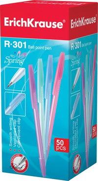 "Ручка шариковая r-301 ""spring"", синяя, ErichKrause"