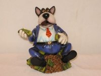 "Сувенир ""собака бизнесмен с долларами"", Shantou Gepai"