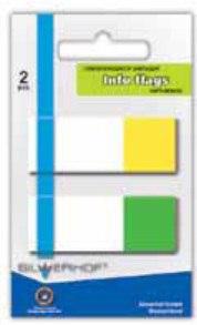Закладки в диспенсере самоклеящиеся, 2 цвета х 20 листов, Silwerhof