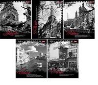 """Тетрадь общая """"города европы"""", а5, 96 листов, клетка, Hatber"""