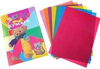 Набор цветной бумаги, а4, 8 цветов, 16 листов, ПВС-Груп
