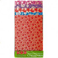 """Набор цветного картона """"сердечки"""", а4, 5 видов, 5 листов, Альт"""