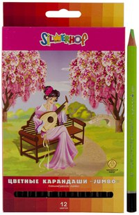 "Карандаши цветные jumbo ""princess"", 12 цветов, Silwerhof"