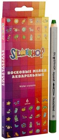 """Восковые акварельные мелки """"emotions"""", 6 цветов, Silwerhof"""