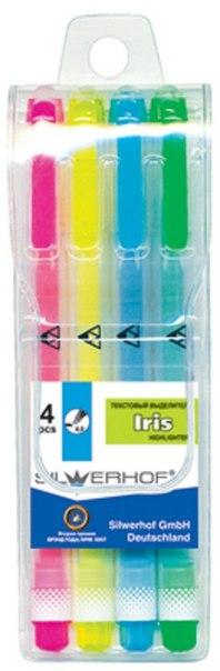 """Набор текстовыделителей """"iris"""", 4 цвета, Silwerhof"""