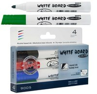 Набор маркеров для доски, 4 цвета, Koh-I-Noor