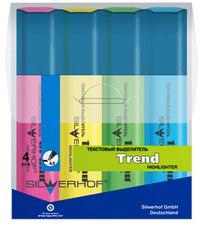 """Набор текстовыделителей """"trend"""", 4 цвета, Silwerhof"""