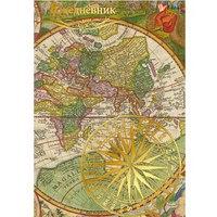"""Книга для записей """"офисный стиль. карта мира"""", а6, Канц-Эксмо (Listoff, Unnika Land)"""
