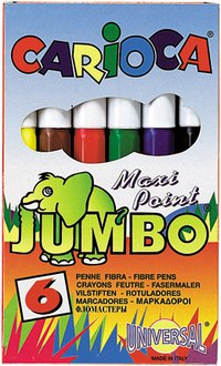 "Фломастеры ""carioca jumbo"", 6 цветов, Universal"