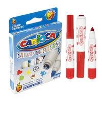"Фломастеры carioca ""stamp marker"", 6 цветов, Universal"