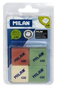 Набор ластиков, 4 штуки, Milan