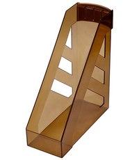 """Лоток для бумаг """""""", вертикальный, тонированный коричневый, Стамм"""