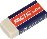 Ластик из синтетического каучука, мягкий, белый, Factis