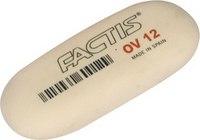 Ластик из синтетического каучука, мягкий, белый овальный, Factis