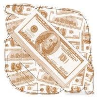 """Конверт гигант для денег """"100$"""", 10 штук, Эврика"""
