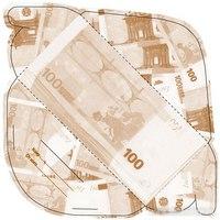 """Конверт для денег """"100 евро"""", 10 штук, Эврика"""