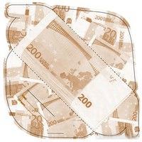 """Конверт для денег """"200 евро"""", 10 штук, Эврика"""