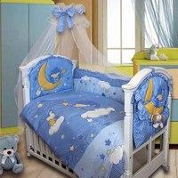 Комплект в кроватку «ежик топа-топ», 8 предметов, голубой, Золотой Гусь