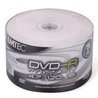 Диск dvd-r, 4,7gb, 50 штук, с поверхностью для печати, Emtec