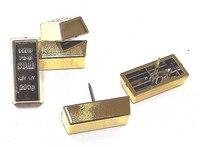 """Набор канцелярских кнопок """"слиток золота"""", China Bluesky Trading Co"""