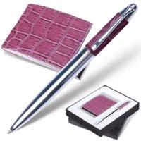 "Набор ""prestige collection"", сиреневый: ручка, визитница, Galant"