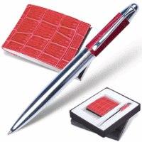 "Набор ""prestige collection"", фуксия: ручка, визитница, Galant"