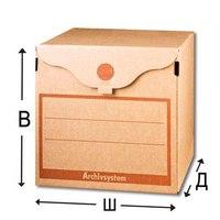 Накопитель документов - архивный короб, бурый, Россия