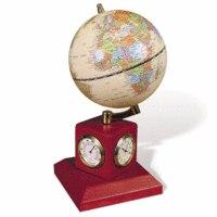 Глобус на подставке с часами, термометром и гигрометром, диаметр - 90 мм, Galant