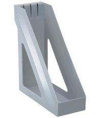 Лоток для бумаг «базис», вертикальный, серый, Стамм