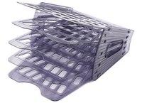 Лоток «веер», 5 секций, 4 отделения, тонированный серый, Стамм