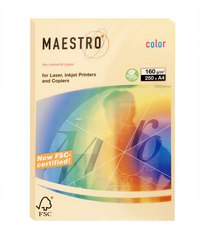 "Бумага ""maestro color trend"" а4, золотистая, 250 листов, Mondi Business Paper"