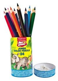 """Карандаши цветные """"jumbo"""", 24 цвета, с точилкой, ErichKrause"""