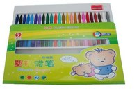 Набор восковых карандашей, 24 цвета + точилка, Miraculous