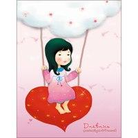 Дневники для младших классов «девочка и сердечки», 48 листов, Канц-Эксмо (Listoff, Unnika Land)