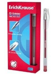 """Ручка гелевая """"g-base"""", красная, ErichKrause"""